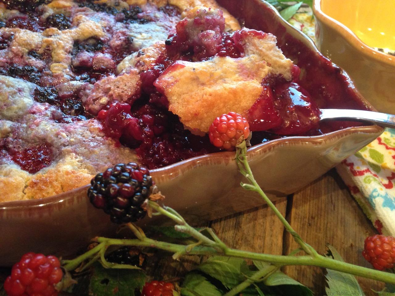 Soft Crust Blackberry Cobbler - My Country Table