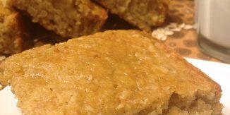 Oatmeal Cake with Maple Glaze