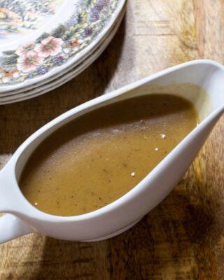 Make Ahead Onion & Sage Turkey Gravy