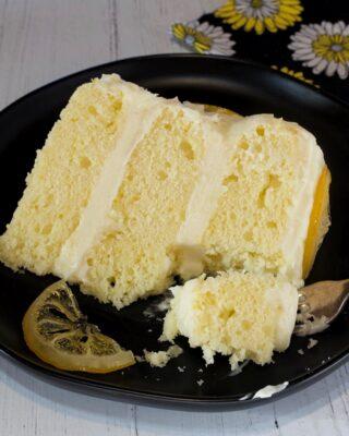 Lemon Layer Cake with Lemon Cream Cheese Buttercream