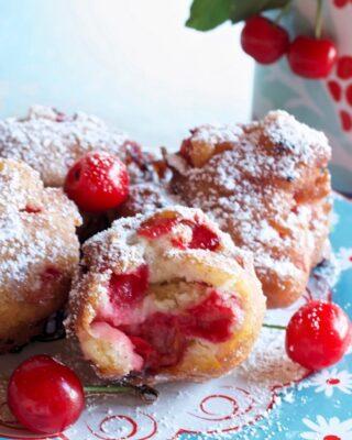 Red Tart Cherry Fritters